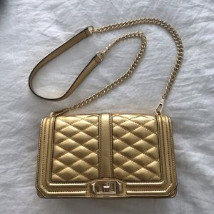 Rebecca Minkoff gold quilted crossbody